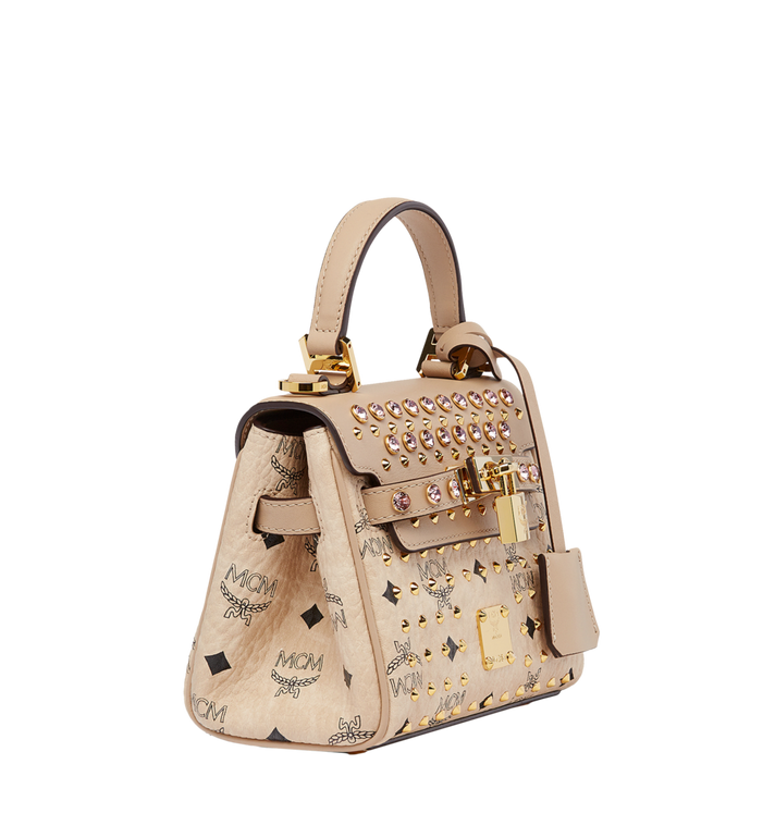 MCM Diamond Satchel in Visetos MWE7SVI61IG001 AlternateView2