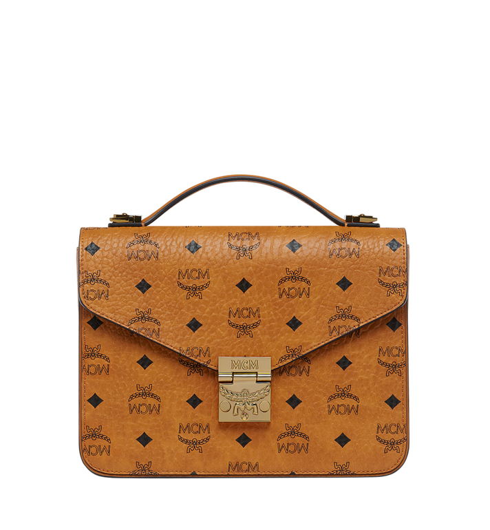 MCM Patricia Satchel in Visetos MWE8SPA42CO001 AlternateView1