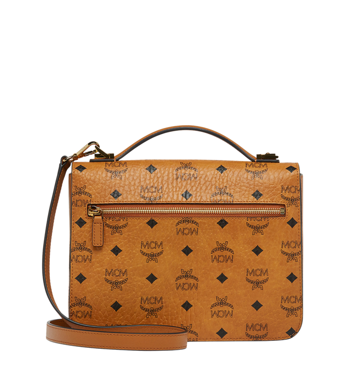 MCM Patricia Satchel in Visetos MWE8SPA42CO001 AlternateView4