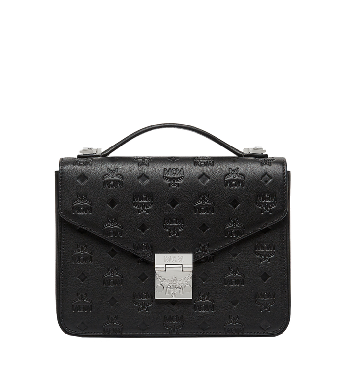 MCM Patricia Satchel in Monogram Leather MWE8SPA72BK001 AlternateView