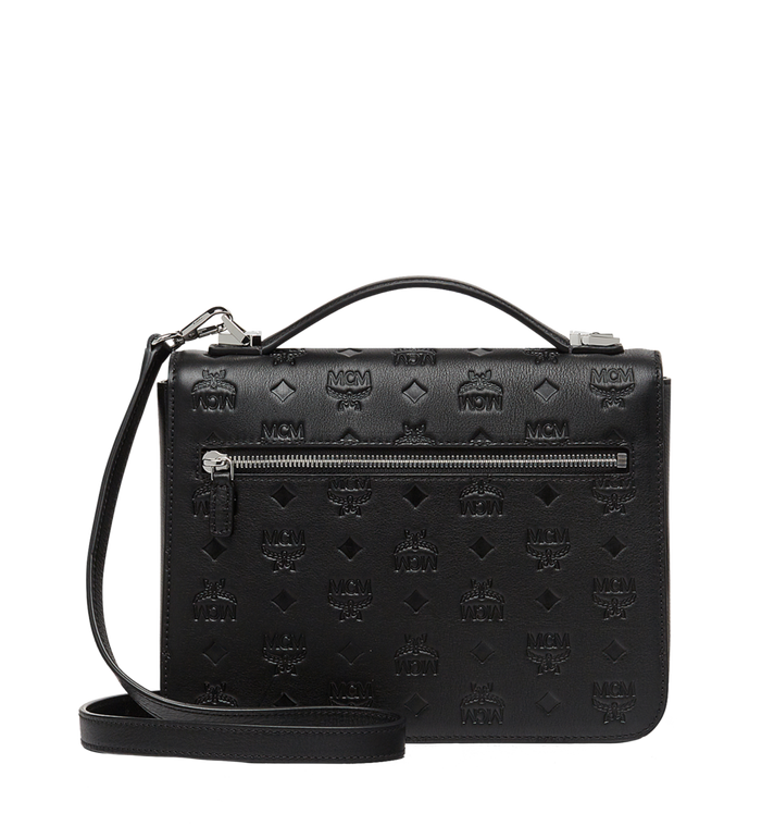 MCM Patricia Satchel in Monogram Leather MWE8SPA72BK001 AlternateView4