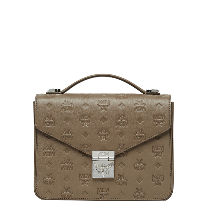 MCM Patricia Satchel aus Leder mit Monogramm MWE8SPA72NV001 AlternateView
