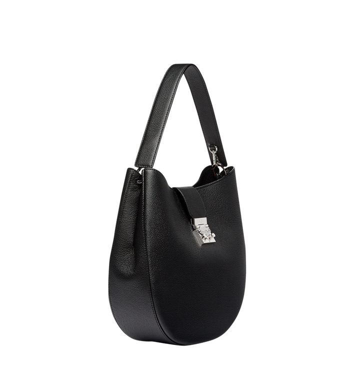 MCM Patricia Hobo in Grained Leather MWH7APA27BK001 AlternateView2