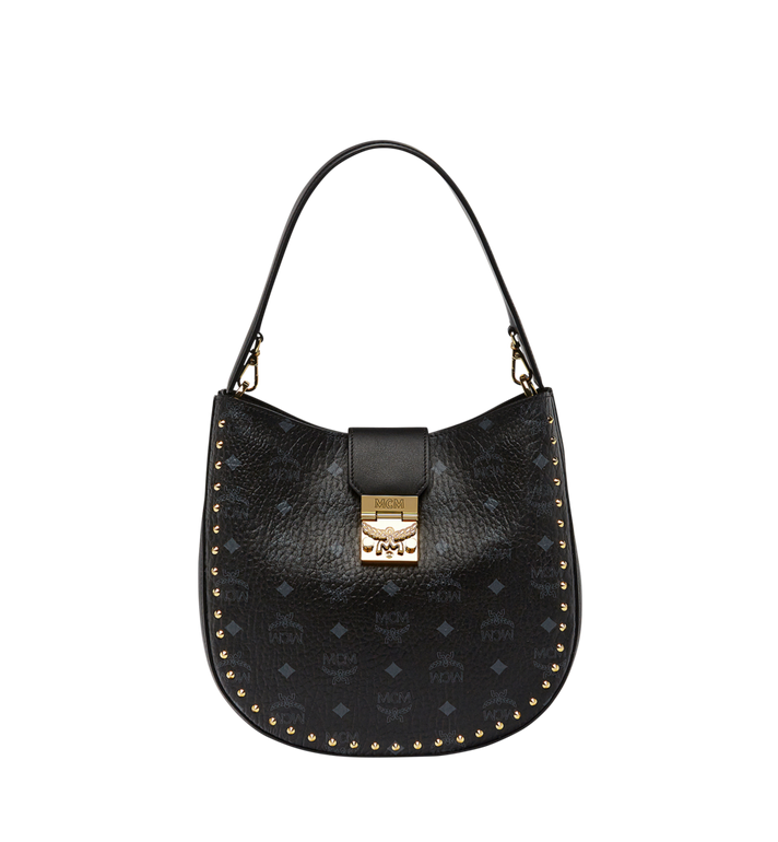 MCM Patricia Studded Outline Hobo in Visetos MWH8SPA44BK001 AlternateView