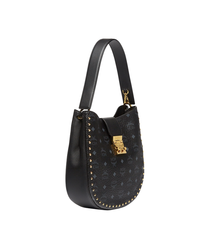 MCM Patricia Studded Outline Hobo in Visetos MWH8SPA44BK001 AlternateView2