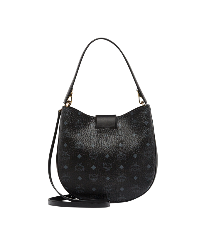 MCM Patricia Studded Outline Hobo in Visetos MWH8SPA44BK001 AlternateView4