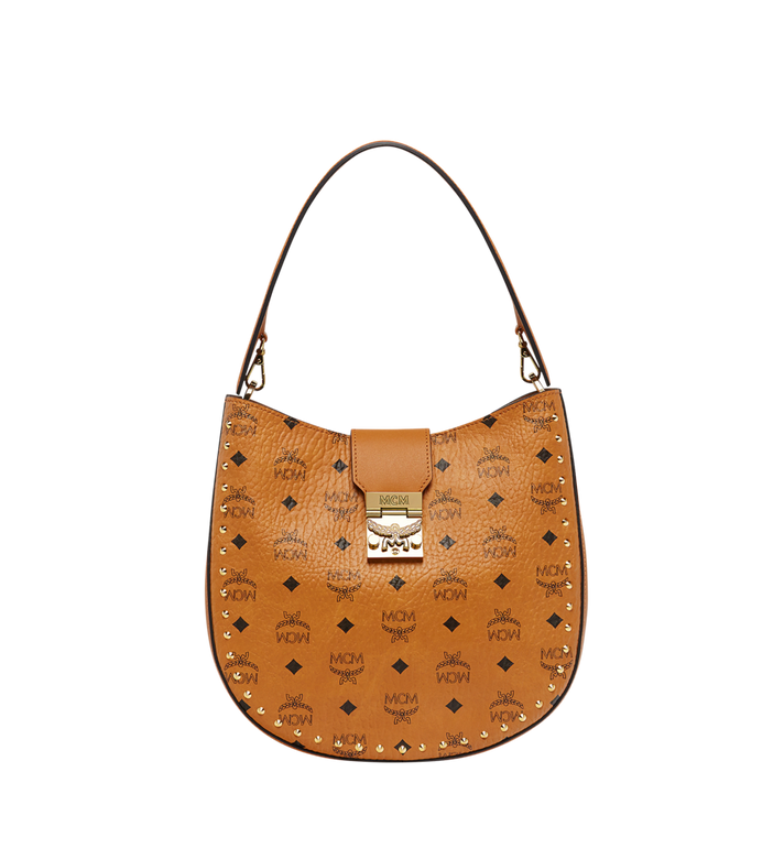 MCM Patricia Studded Outline Hobo in Visetos MWH8SPA44CO001 AlternateView