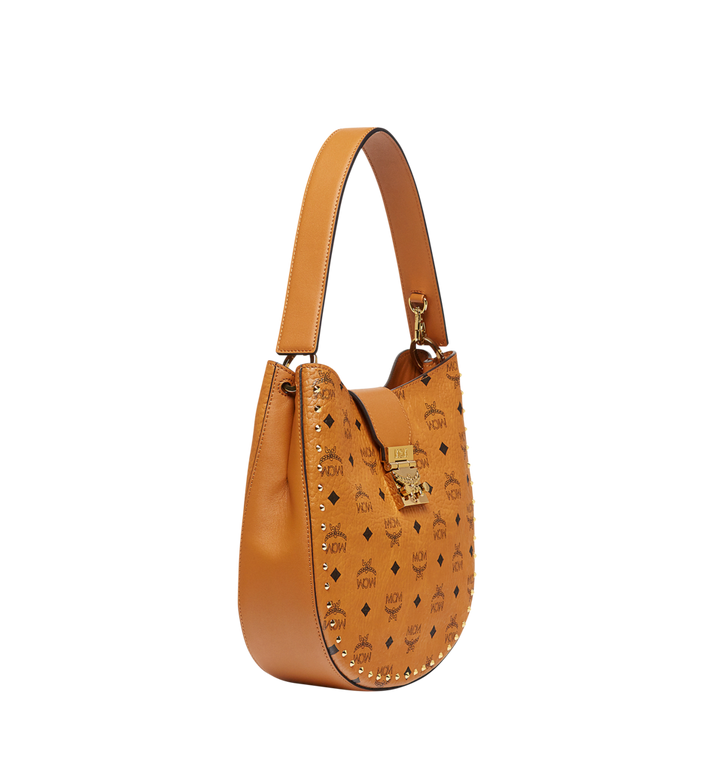MCM Patricia Studded Outline Hobo in Visetos MWH8SPA44CO001 AlternateView2