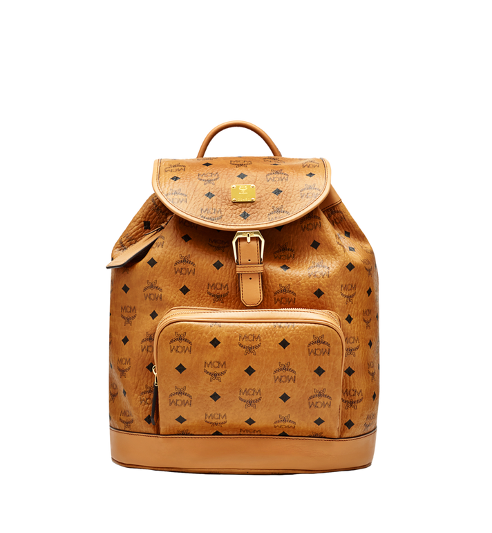 MCM Heritage Single Pocket Rucksack in Visetos MWK6AVI44CO001 AlternateView