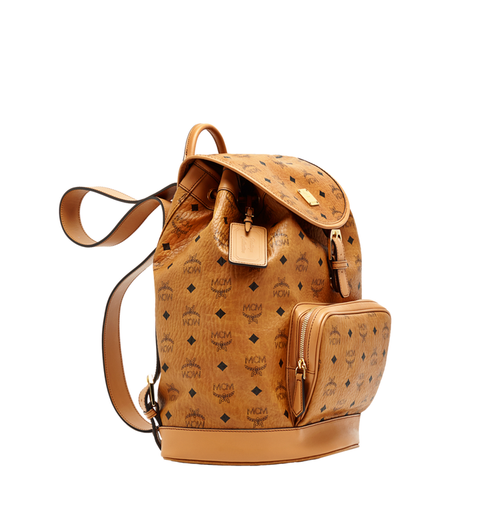 MCM Heritage Single Pocket Rucksack in Visetos MWK6AVI44CO001 AlternateView2