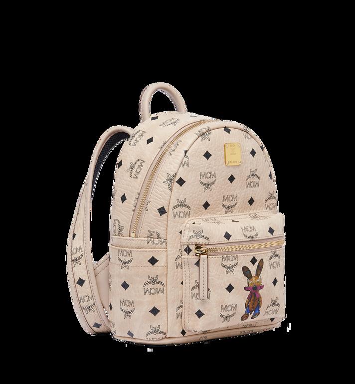 MCM Stark Classic Rabbit Backpack in Visetos MWK6AXL07IG001 AlternateView2