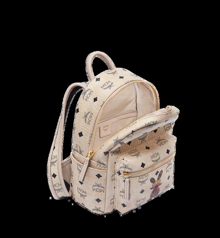 MCM Stark Classic Rabbit Backpack in Visetos MWK6AXL07IG001 AlternateView5
