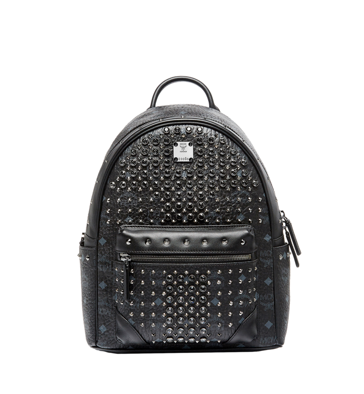 MCM Stark Diamond Swarovski Backpack in Visetos MWK6SVI52BK001 AlternateView1