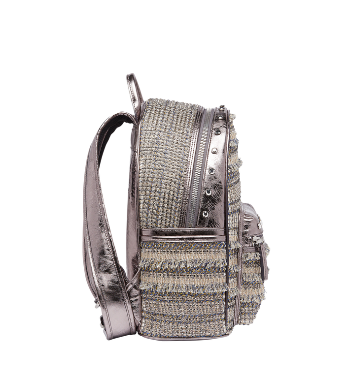 MCM Stark Special Backpack in Crystal Tweed MWK7AVE40SS001 AlternateView3