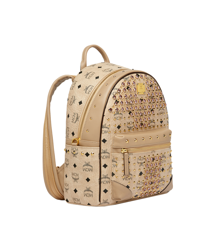 MCM Stark Diamond Swarovski Backpack in Visetos MWK7SVI52IG001 AlternateView2