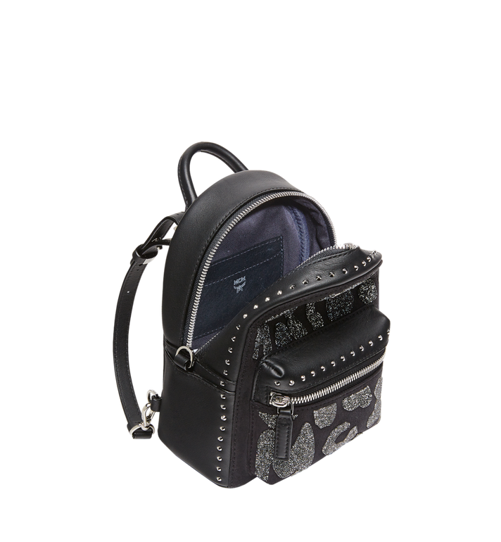 MCM Stark Bebe Boo Backpack in MCM Leopard Crystal MWK8AVE11BK001 AlternateView7