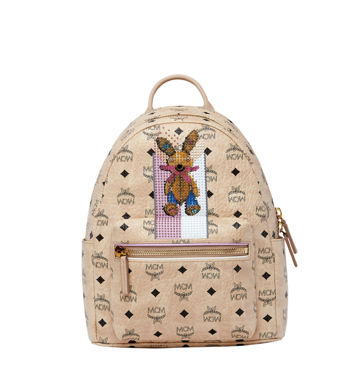 MCM Stark Stripe Rabbit Backpack in Visetos MWK8SXL30IG001 AlternateView1