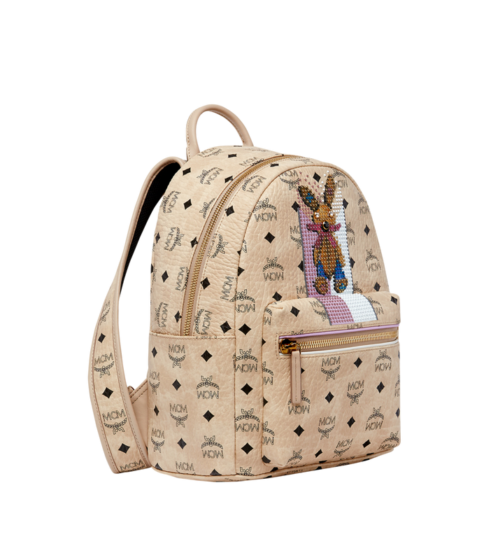 MCM Stark Stripe Rabbit Backpack in Visetos MWK8SXL30IG001 AlternateView2