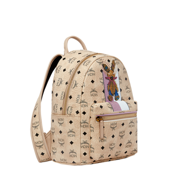 MCM Stark Stripe Rabbit Rucksack in Visetos MWK8SXL30IG001 AlternateView2