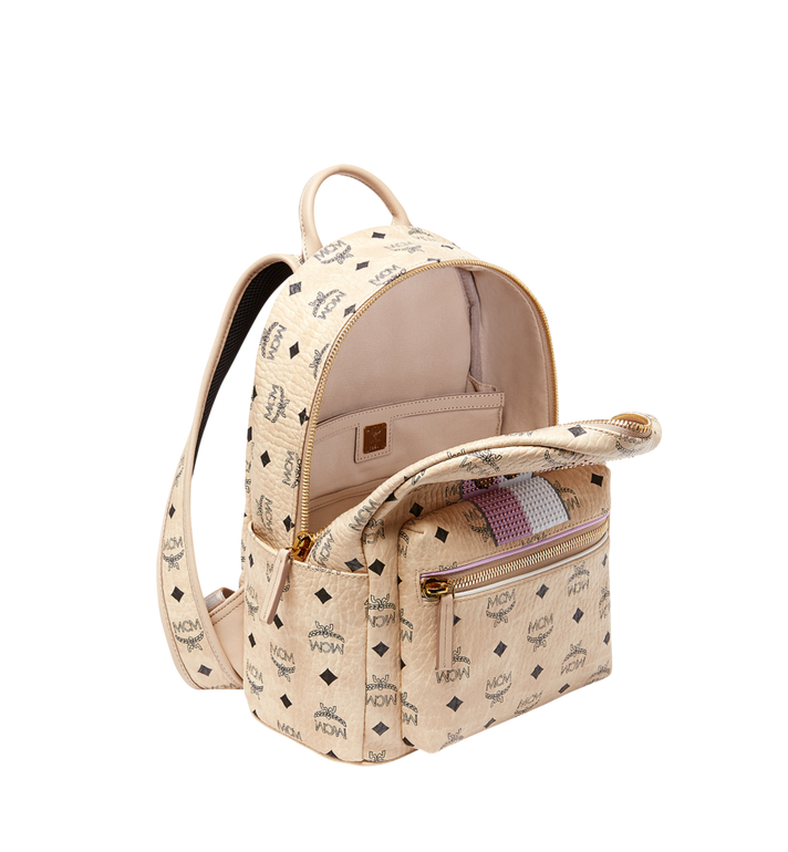 MCM Stark Stripe Rabbit Backpack in Visetos MWK8SXL30IG001 AlternateView5