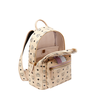 MCM Stark Stripe Rabbit Rucksack in Visetos MWK8SXL30IG001 AlternateView5