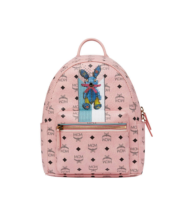 MCM Stark Stripe Rabbit Backpack in Visetos MWK8SXL30PZ001 AlternateView