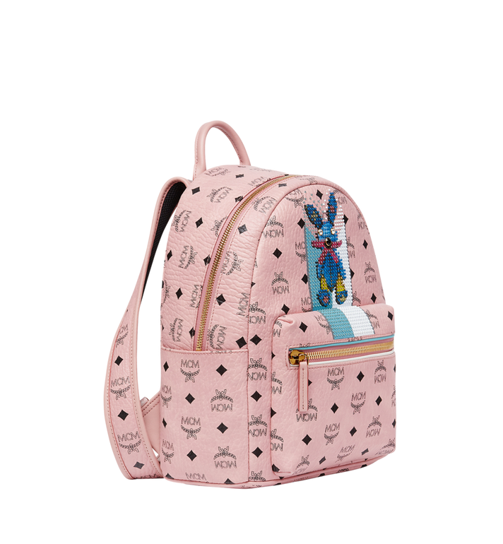 MCM Stark Stripe Rabbit Backpack in Visetos MWK8SXL30PZ001 AlternateView2