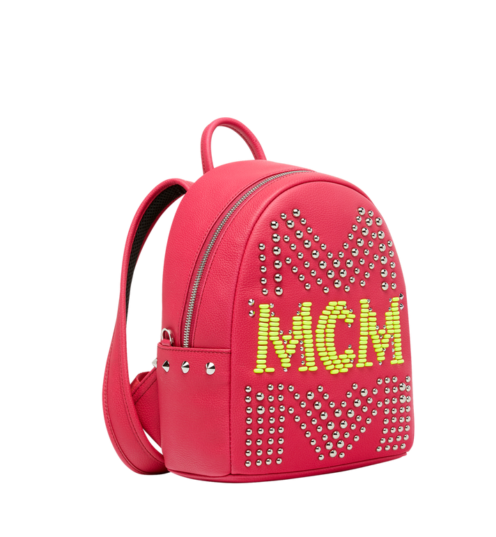 MCM Stark Backpack in Neon Stud Leather AlternateView2