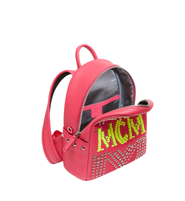 MCM Stark Backpack in Neon Stud Leather AlternateView5