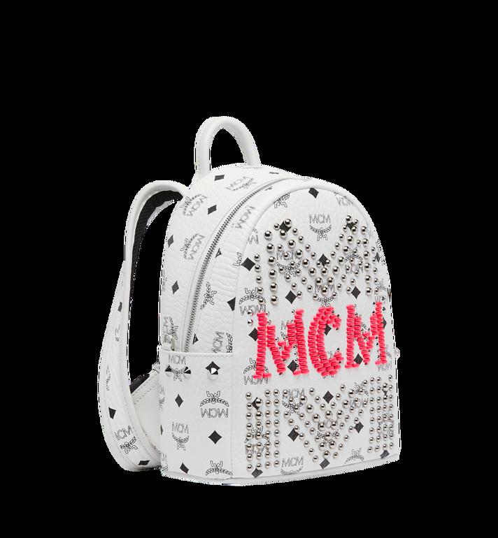 MCM Stark Rucksack in Neon Stud Visetos AlternateView2