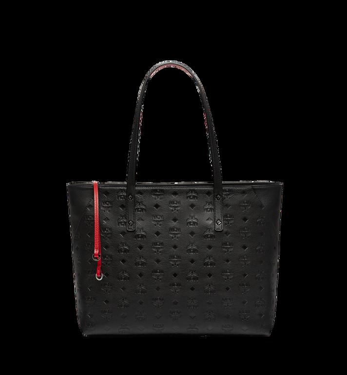 MCM Klara Top Zip Shopper in Monogram Leather MWP7AKM51BK001 AlternateView