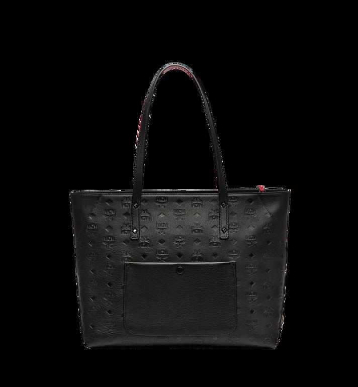 MCM Klara Top Zip Shopper in Monogram Leather MWP7AKM51BK001 AlternateView4