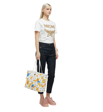MCM Essential Top Zip Shopper in Floral Print Visetos MWP8SSE83WT001 AlternateView7