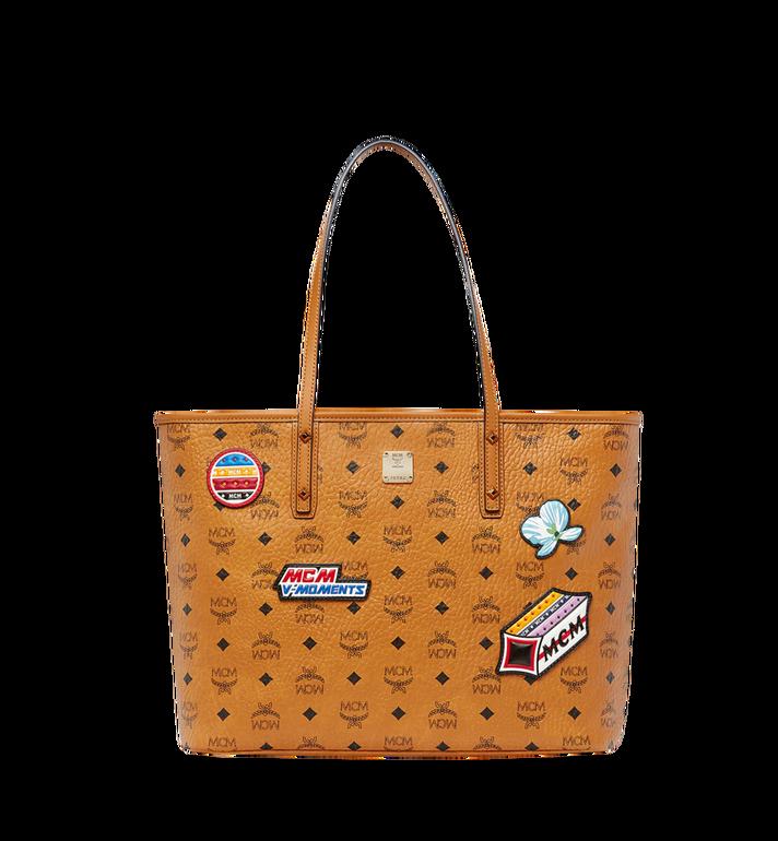 MCM Sac Shopping avec Patches en Visetos Cognac 0taUIxDdOe
