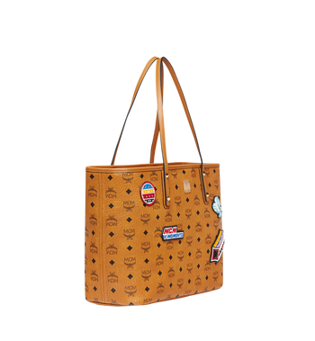 MCM Victory Patch Top Zip Shopper in Visetos MWP8SVI69CO001 AlternateView2