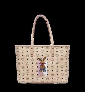 MCM Rabbit Top Zip Shopper in Visetos MWP8SXL18IG001 AlternateView