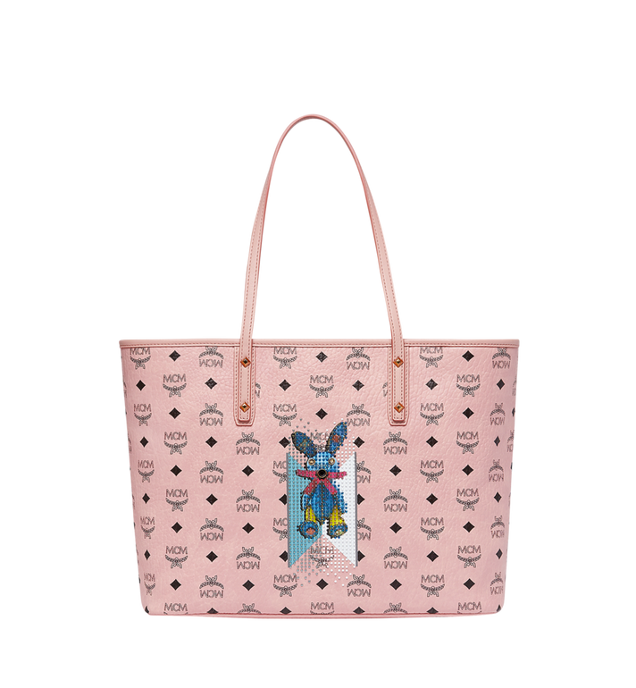 MCM Rabbit Top Zip Shopper in Visetos MWP8SXL18PZ001 AlternateView