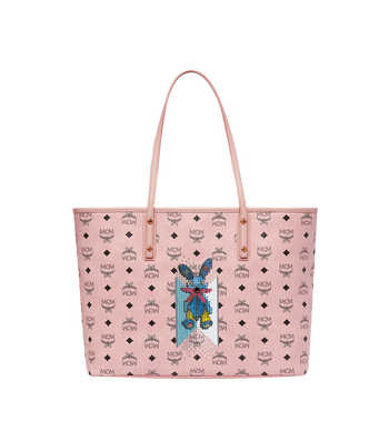 MCM Rabbit Top Zip Shopper in Visetos MWP8SXL18PZ001 AlternateView