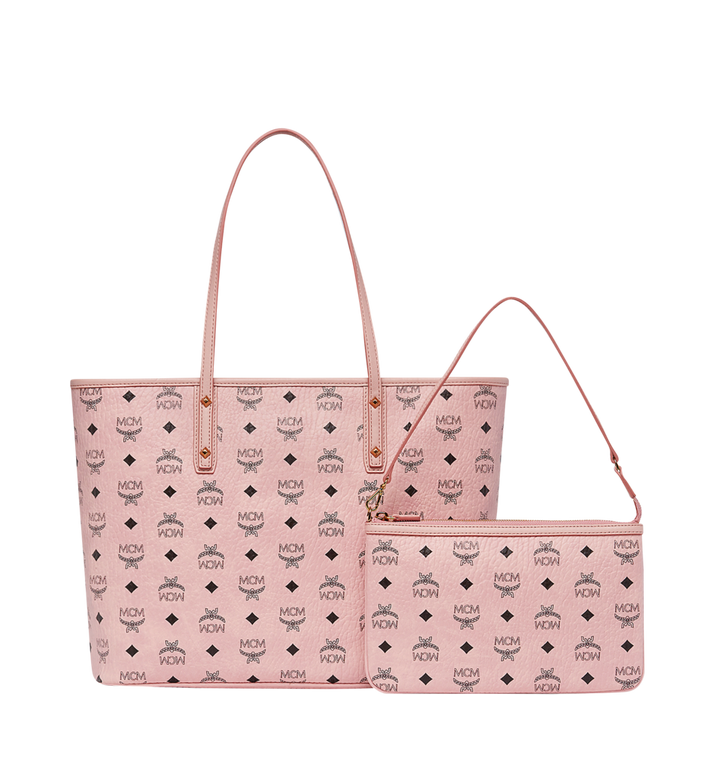 MCM Rabbit Top Zip Shopper in Visetos MWP8SXL18PZ001 AlternateView4