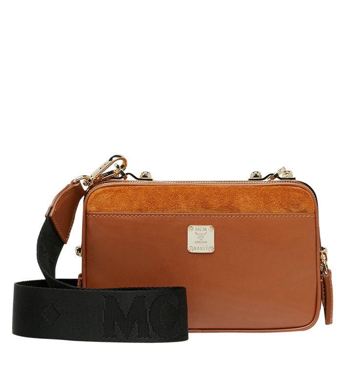 MCM Cubism Crossbody in Suede MWR8AXC17CO001 AlternateView4