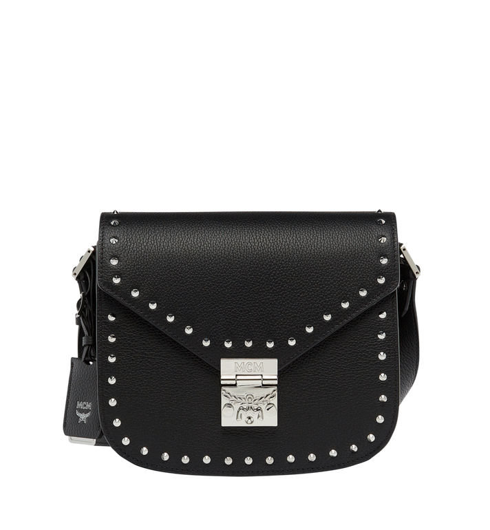 MCM Patricia Studded Outline Shoulder in Grained Leather MWS7APA17BK001 AlternateView