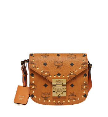 MCM Patricia Studded Outline Schultertasche in Visetos MWS7APA34CO001 AlternateView