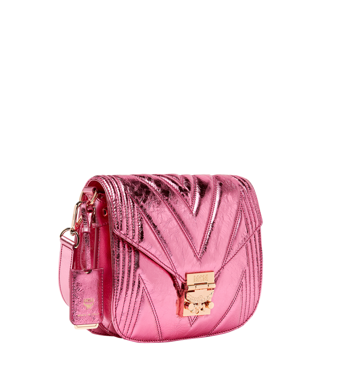 MCM Patricia Shoulder Bag in Quilted Metallic Leather MWS8APA71UK001 AlternateView2