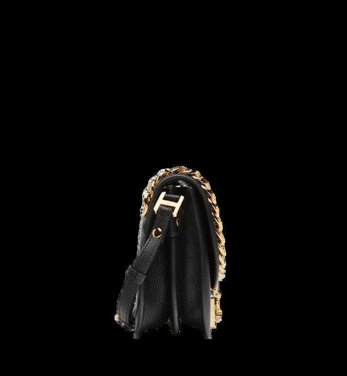 MCM Trisha Chain Schultertasche aus feingemasertem Leder MWS8STS93BK001 AlternateView3