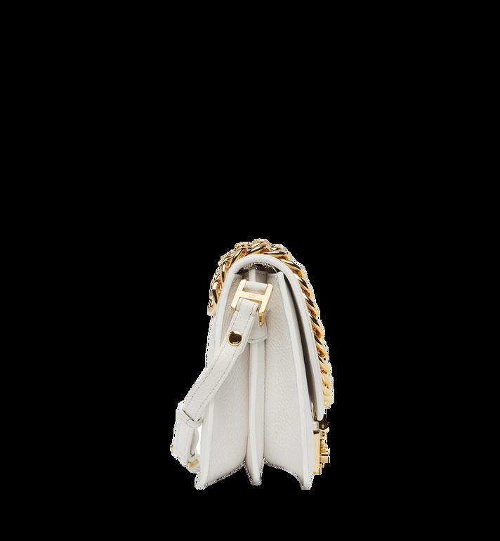 MCM Trisha Chain Schultertasche aus feingemasertem Leder MWS8STS93WT001 AlternateView3