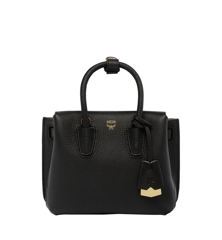 MCM Milla Tote in Grained Leather MWT6AMA05BK001 AlternateView