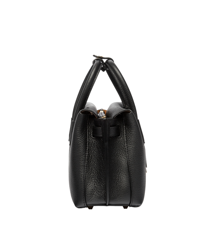 MCM Milla Tote in Grained Leather MWT6AMA05BK001 AlternateView3