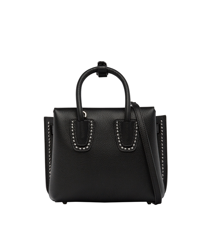 MCM Milla Studded Outline Tote in Grained Leather MWT7AMA59BK001 AlternateView4