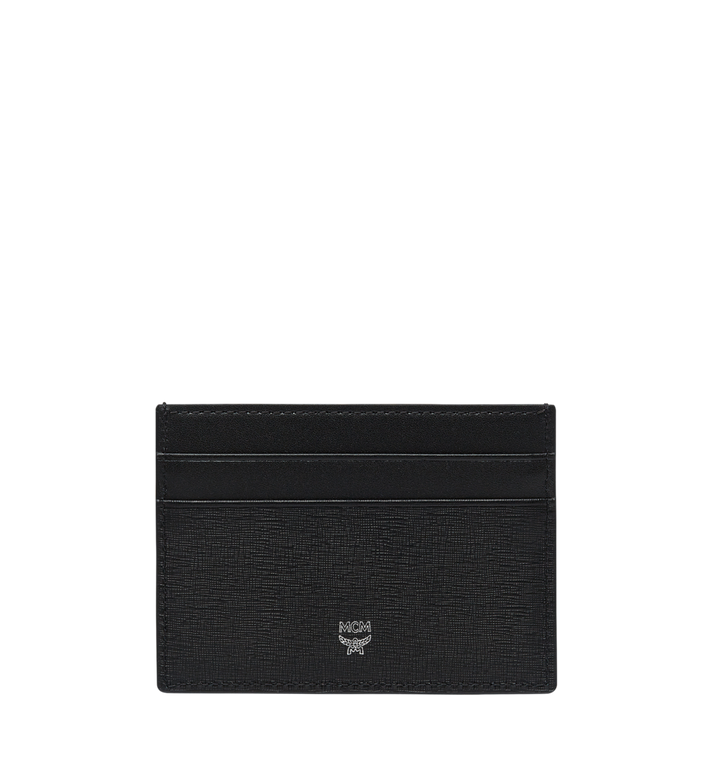 MCM 코부르크 크로스그레인 레더 카드케이스 MXA8SCE26BK001 AlternateView3