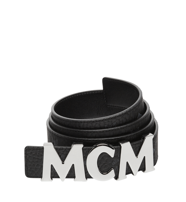 "MCM Letter Belt 1.5"" in Visetos MXB7AMM08BK110 AlternateView"